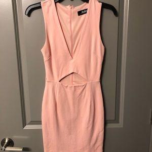 Lulu's mini front cutout dress